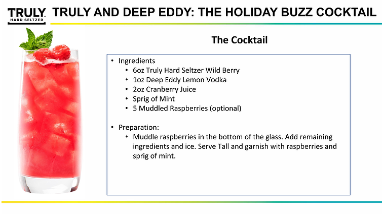 TRULY and Deep Eddy Cocktail