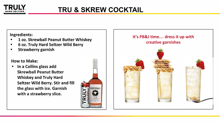 TRULY Skrewball Cocktail
