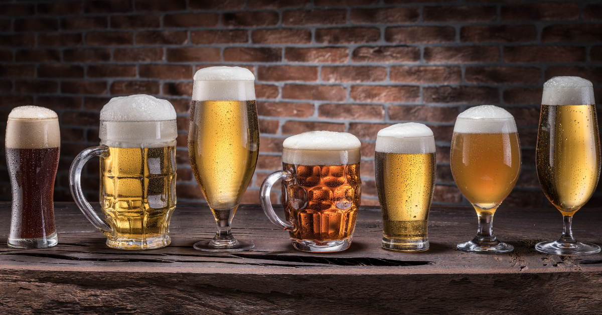 selecting beer glasses