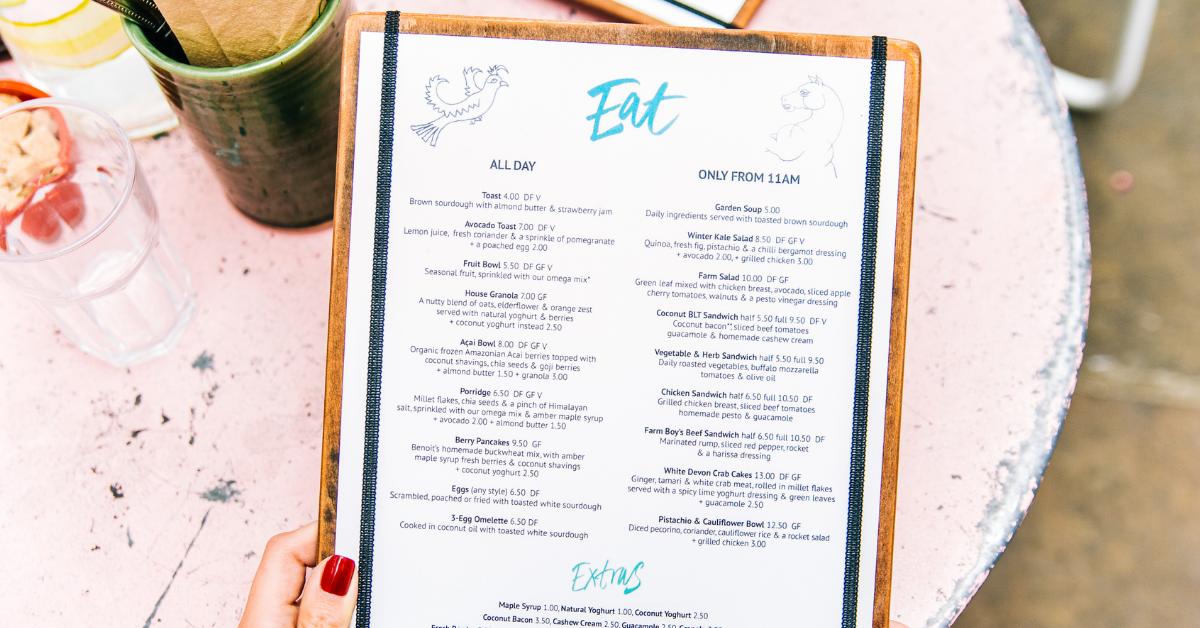 why you should make menu changes